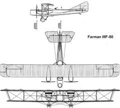 farman50 3v model airplane plan