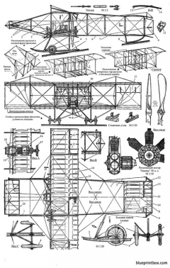 farman iv model airplane plan
