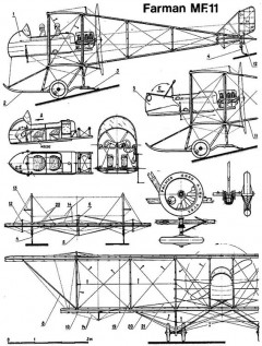 farman mf11 1 model airplane plan