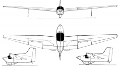 fauvel av221 3v model airplane plan