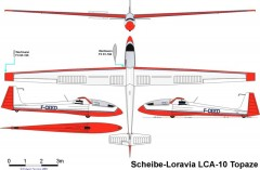 fceed 3vues A4 model airplane plan