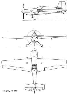 feugray tr260 3v model airplane plan