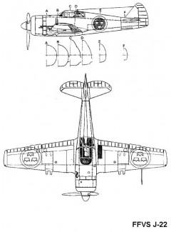 ffvs j22 3v 2 model airplane plan