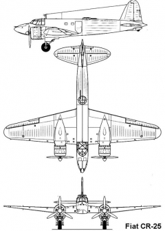 fiat cr25 3v model airplane plan