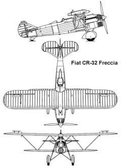 fiatcr32 1 3v model airplane plan