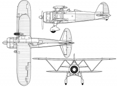 fiatcr42 3v model airplane plan