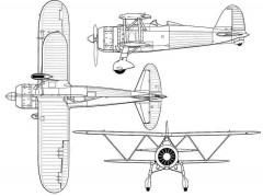 fiatcr42 3v model airplane plan