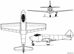 fma ia27 pulqui 1947 argentina model airplane plan