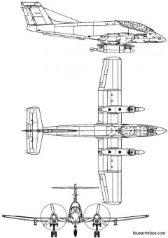fma ia 58 pucara model airplane plan
