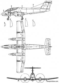 fma ia 58 pucara 2 model airplane plan