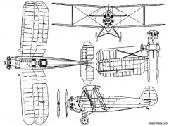 focke wulf fw44 model airplane plan