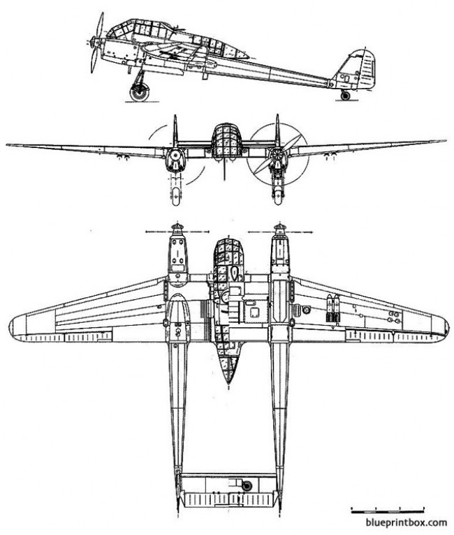 focke wulf fw 189 a1 uhu model airplane plan