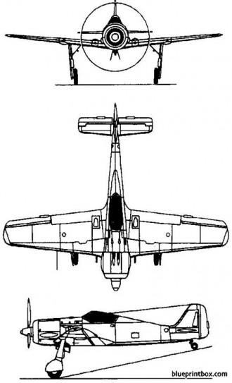 focke wulf fw 190 model airplane plan