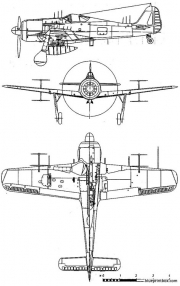 focke wulf fw 190 a6 model airplane plan