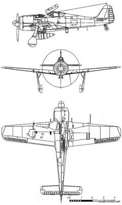 focke wulf fw 190 a8 model airplane plan
