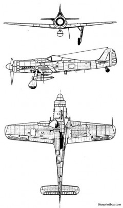 focke wulf fw 190 d9 model airplane plan