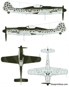 focke wulf fw 190 d 9 model airplane plan
