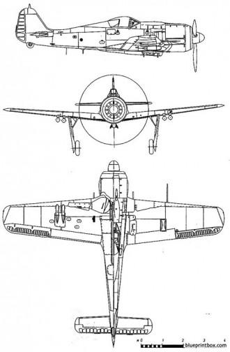 focke wulf fw 190 f8 model airplane plan