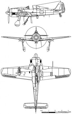 focke wulf fw 190 g8 model airplane plan