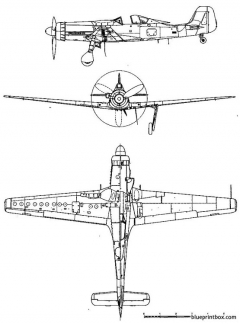 focke wulf ta 152h model airplane plan