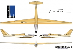 foka2 model airplane plan