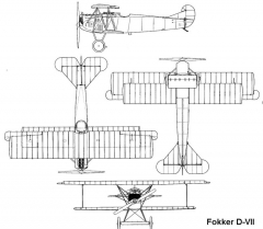 fokker d7 3v model airplane plan