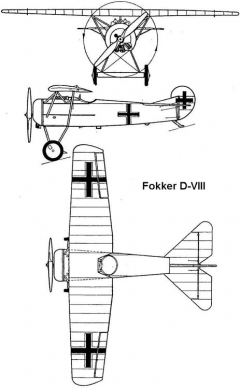 fokker d8 3v model airplane plan