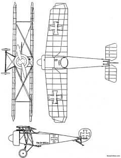 fokker d v model airplane plan