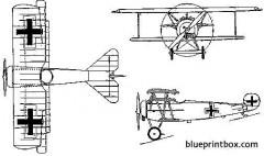 fokker d vi model airplane plan