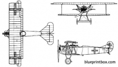 fokker d vii biplane model airplane plan