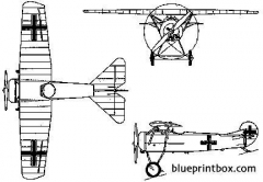 fokker d viii 2 model airplane plan