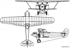 fokker d xi pw 7 1923 holland model airplane plan