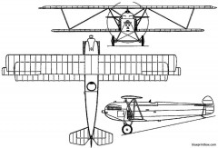 fokker d xii 1924 holland model airplane plan