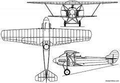 fokker d xiii 1924 holland model airplane plan