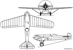 fokker d xiv 1925 holland model airplane plan