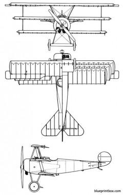 fokker dr i dreidecker model airplane plan