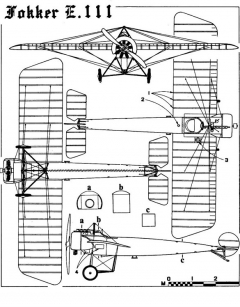 fokker e3 3v model airplane plan