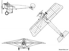 fokker e i eindecker model airplane plan