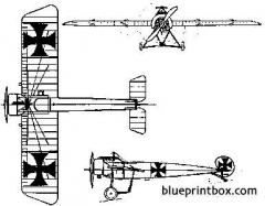 fokker e iii eindecker 2 model airplane plan