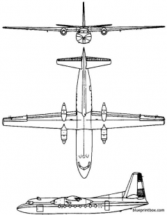 fokker f27 friendship 1955 holland model airplane plan