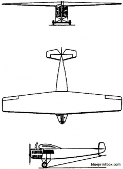 fokker f3 1921 holland model airplane plan