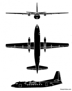 fokker f 27 friendship model airplane plan