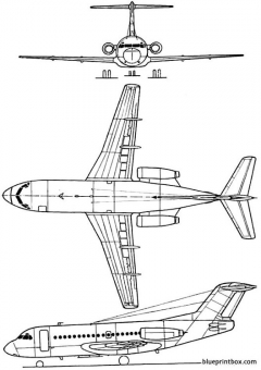 fokker f 28 model airplane plan