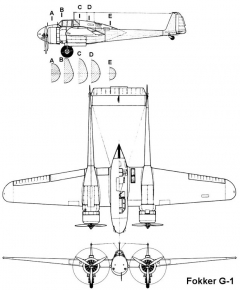 fokker g1 3v model airplane plan