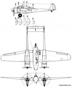 fokker g 1 model airplane plan