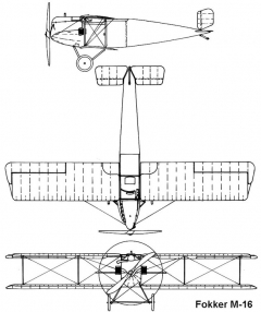 fokker m16 3v model airplane plan