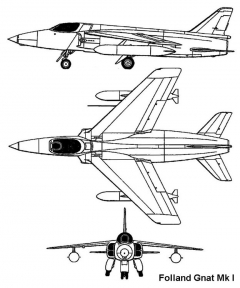 folland gnat 3v model airplane plan