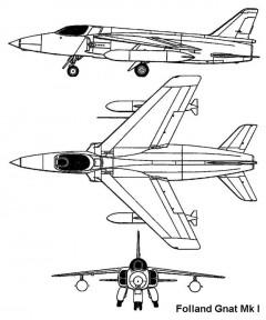 folland gnat 3v model airplane plan