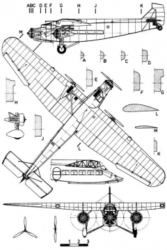 fordtri 3v model airplane plan