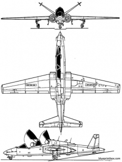 fouga 90 magister model airplane plan